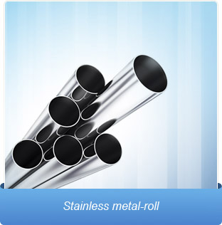 Stainless metal-roll